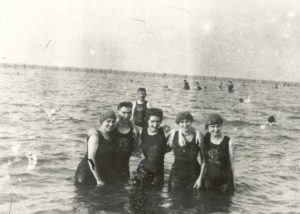1920-1929 Swimmers in water, Chesapeake Beach, Maryland