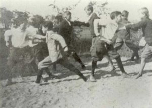 "1920-1929 Schoolchildren ""fighting"", Mt. Harmony School."