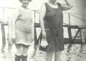 1920-1929 Two women wading in Chesapeake Bay